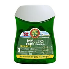 Moller's Forte  tran 60 kaps. OMEGA-3 ODPORNOŚĆ fish oil immunity Immunität .