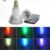E14/E27 3W 16Colors LED RGB Magic spot Light Bulb Lamp Wireless Remote Control E