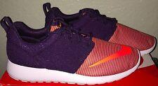 Boys Nike Roshe One Running Shoes Youth size 7 Black / Orange NIB
