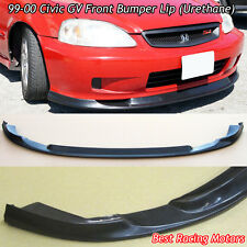 GV Style Front Bumper Lip (Urethane) Fits 99-00 Honda Civic 2dr