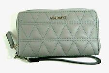 Nine West Women's Sylvia SLG Zip Around Wristlet Wallet Mist/mist Mm