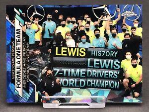 Topps Chrome Sapphire F1 Lewis Hamilton Mercedes AMG Card Formula 1 One #100