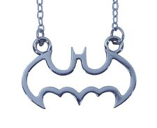 Batman Dark Knight Necklace Cut Out Jewelry Superhero Pendant Stainless DC Comic