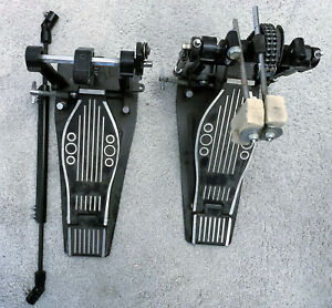 Doppelfußmaschine (no name) mit Umbau für kleines E-Bass Drum Pad