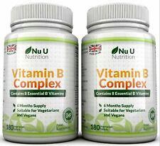 2 x NU NUTRITION VITAMINA B COMPLEX 180 Compresse contiene tutti i 8 VITAMINE B