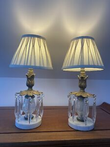 Beautiful Pair Of Antique / Vintage Lamps For Desk, Dressing/Bedside Table Etc.