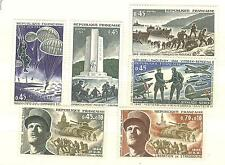 YVERT N° 1603 à 1608 GUERRE 39-45 TIMBRES FRANCE NEUFS **