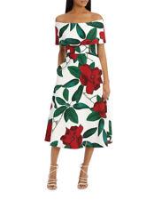 Jayson Brunsdon Black Label Floral Allure Dark Rose Off Shoulder Dress