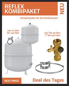 Reflex Ausdehnungsgefäß Ausgleichsbehälter für Heizung 12-80 L mit Zubehör
