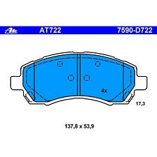 Disc Brake Pad Front ATE AT722
