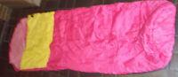 Camping - Zelt - Schlafsack gefüttert Farbe: Pink /gelb L-2m B-65cm-gebraucht