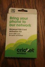 Cricket Wireless Prepaid Universal SIM Card Kit - Cell Phone - See Description