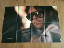 VINTAGE POSTER NEIL YOUNG YEAR 1979 RARO cm. 84 x 56 ITALY VERY GOOD++