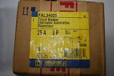 3 D fal34025 SQUARE Pole Interruttore Automatico 25 Amp 480v AC 250v DC NUOVO CON SCATOLA