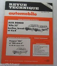 Revue technique automobile RTA 451 Alfa romeo Alfa 33