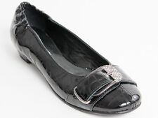 New Rodolfo Valeri Black Patent Leather Made in Italy Shoes Size 40 US 10