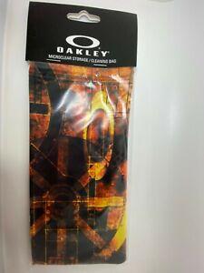 AUTHENTIC OAKLEY Industrial Rust micro fiber sunglass bag NEW !!