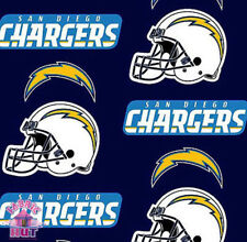 San Diego Chargers NFL Fleece Fabric 6273 D Throwback
