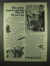 1978 Presto Pressure Canner Ad - I Put in A Garden