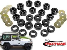 Prothane 1-105-BL Jeep Wrangler, YJ Body Mount Bushing 22 pc Kit-Poly 87-96