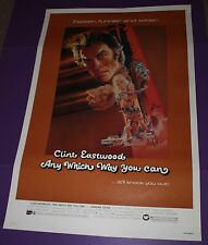 ANY WHICH WAY YOU CAN MOVIE POSTER CLINT EASTWOOD ROLLED