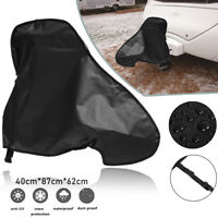 Waterproof PVC Caravan Trailer Towing Tow Hitch Cover Snow Dust Protecter Black