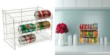 Atlantic Gravity-Fed Compact Single Canrack - Kitchen Organizer, Twin, Silver