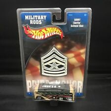 HOT WHEELS MILITARY RODS ARMY SURFIN' SCHOOL BUS