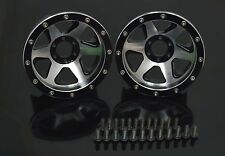 """Aluminum 2.2"""" Wheel Beadlock (2 pcs) Black For Axial Yeti 90026 Dhawk Racing"""