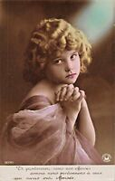 PRETTY BLONDE GIRL WEARING PINK DRESS -FRENCH REAL PHOTO POSTCARD