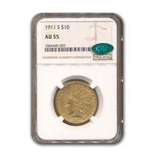 1911-S $10 Indian Gold Eagle AU-55 NGC CAC