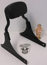 Harley-Davidson Softail Black Rigid Sideplates, Short Sissy Bar & Backrest Pad