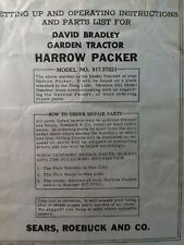Sears David Bradley Tractor Culti Packer Implement Owner Ampparts Manual 91757521