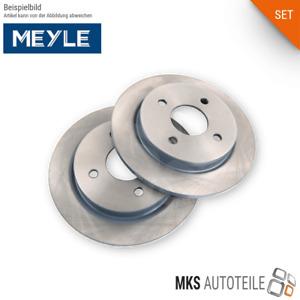 2x MEYLE Bremsscheiben, Bremsen SET/Satz hinten für AUDI
