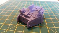 Open Hatches Turret & Weapons 28mm Compatible with LMR Tank
