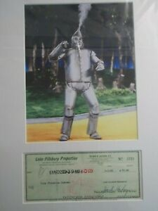 Color Matted Photo of the Wizard of Oz Jack Haley w/signed check
