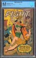 Fight Comics #43 CBCS 6.5 FN+ OW/W Matt Baker Bondage Cover 1943 Fiction House