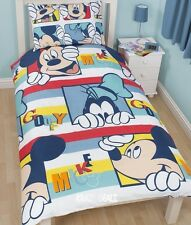 Disney Mickey Mouse Play Single Rotary Duvet Cover Bed Set Goofy New Gift