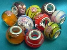 Rosebud 14mm verre de murano Gros Trou 5mm Perles Fabrication de Bijoux Craft conclusions 10