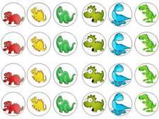 24 cartoon dinosaur bun fairy cupcake toppers birthdays party edible paper