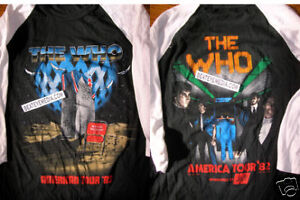 THE WHO-VINTAGE CONCERT TOUR T SHIRT,HEAVY METAL,JERSEY