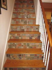 SLATE MOSAIC TILE RANDOM PATTERN Flooring Walls Backplash FREE PRIORITY SHIPPING