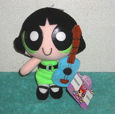 "POWERPUFF GIRLS APPLAUSE BUTTERCUP WITH GUITAR 5"" BEAN BAG PLUSH TOY"
