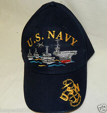 US NAVY SHIP HAT CAP FULLY EMBOIDERED LICENSED BATTLE SHIP CARRIER USA