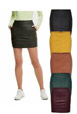 Only Damen Rock 34 36 38 40 42 OnlBase Faux Kunstleder Skirt kurz Minirock NEU