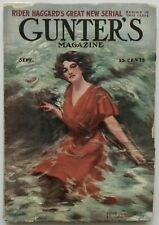 Complete Antique Sept. 1908 Gunter's Magazine Literary Pulp with Illustrations