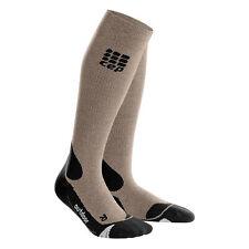 CEP Women's Compression Outdoor Merino Socks Sand Dune/Black III