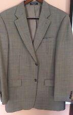 """ Ralph Lauren Chaps""A Stylish Stone Mini Houndstooth Sport Coat 42L 100%  Wool"
