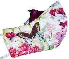 Beautiful Butterflies & Flowers Face Mask 100% Triple Layer Cotton For Women Usa