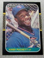 1987 DONRUSS KIRBY PUCKETT CARD! TWINS HALL OF FAMER - NM.